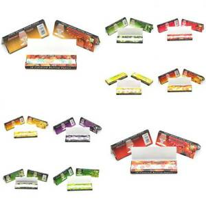 Cigarette 5 Fruit Flavored Smoking 250 Leaves Lots Hemp Tobacco Rolling Papers 690476746436