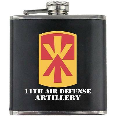 Army 11th Armored Cavalry Veteran Full Color Groomsman Gift Leather Wrap Flask