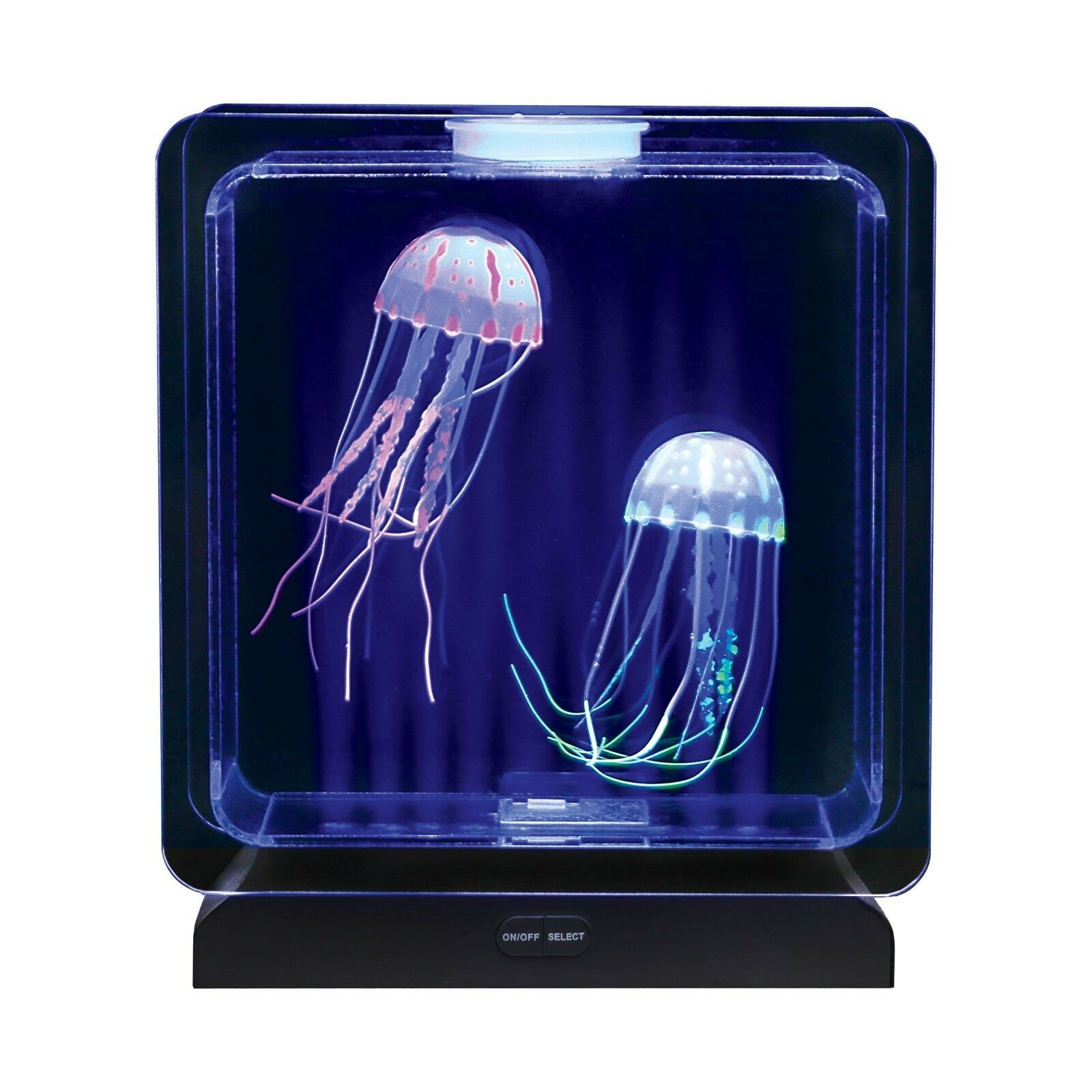 Square Jellyfish Light Up Tank For Visual Stimulation, Special Needs, Relaxation