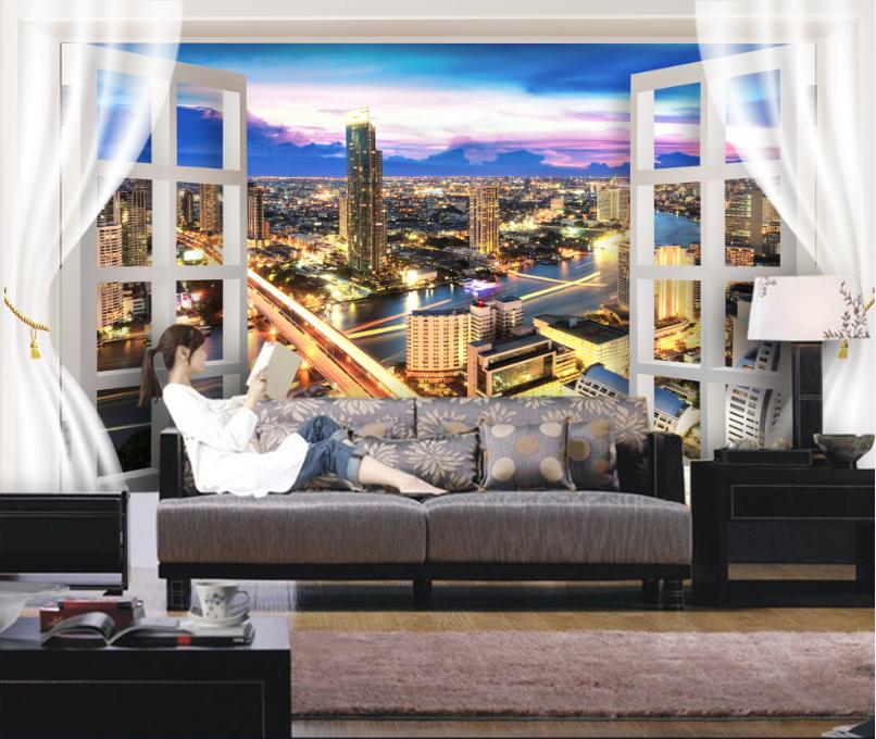 3D City Build 467 Wallpaper Murals Wall Print Wallpaper Wallpaper Wallpaper Mural AJ WALL AU Lemon 6eae1a