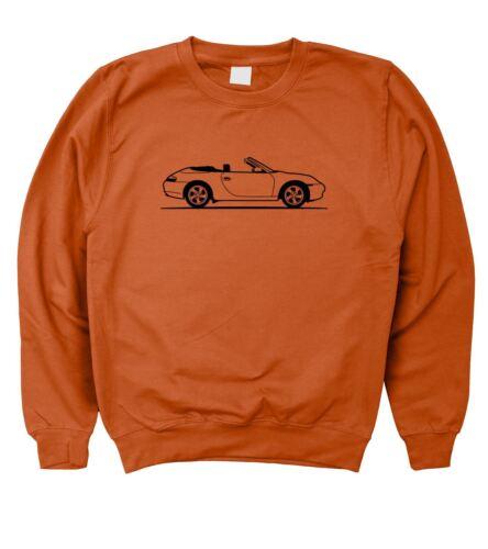 5XL Para Hombre Original Sketch Porsche 911 Carrera Convertible 996 Sudadera S