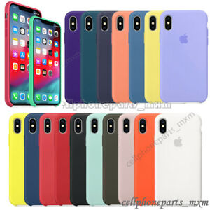 newest collection 68d17 28c10 For Apple iPhone X XR XS Max 8 Original Silicone Genuine Back Case ...