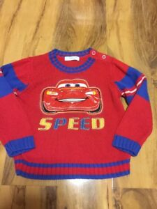 Disney-Store-Lightning-McQueen-Jumper-Aged-2-3-Years-Old