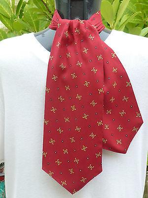 Focoso Vintage Tootal Rosso Foulard Da Collo Sciarpa Mod Indie Dapper Goodwood Ascot 60s 70s Retrò-