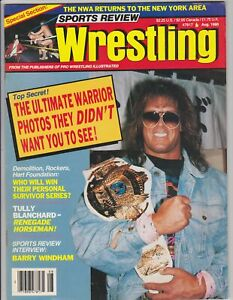 Sports Review Wrestling August 1990 Magazine Ultimate Warrior WWF WWE Vintage