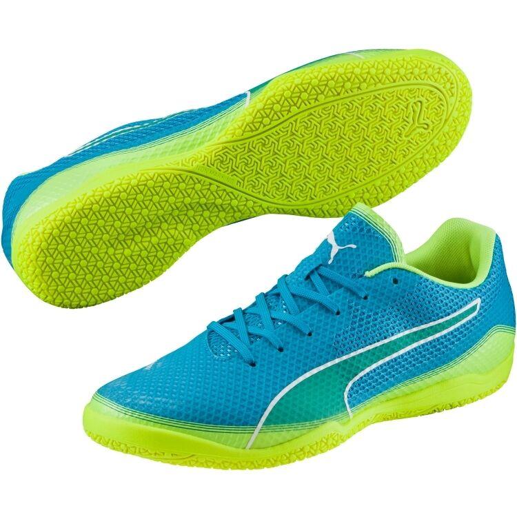 Puma 2016 Invicto 2.0 Fresh IT Casual / Training Soccer Shoes Blue / Lime Scarpe classiche da uomo