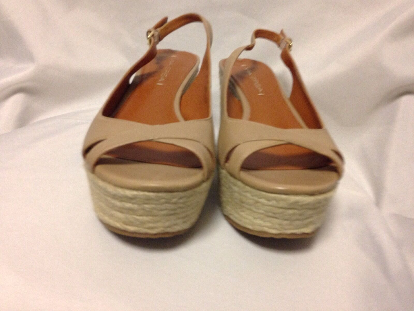 Via Spiga Luciana Platform Wedge Wedge Wedge Espadrille Sandal 8 M Nude  New with Box 318561