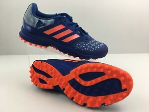 new product 5ad4a 28287 Image is loading Adidas-Zone-Dox-Hockey-AQ6520-Blue-Orange-Trainers-