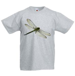 Dragonfly KID/'S T-shirt Bambini Ragazzi Ragazze Unisex Top