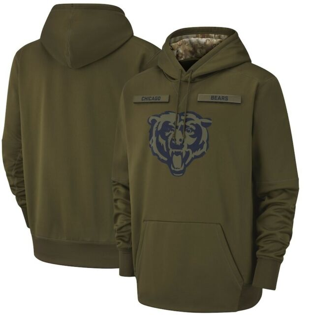 premium selection db8f6 f7457 Chicago Bears Salute to Service Sideline Therma Performance Pullover Hoodie