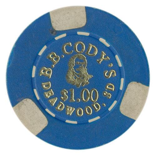 Cody/'s $1 Casino Chip Deadwood South Dakota Plain Mold 1989-1997 B.B