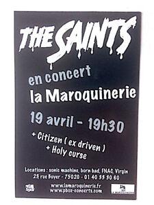 THE SAINTS Chris Bailey NO ONE IS INNOCENT - flyer concert - Paris Maroquinerie - France - THE SAINTSau verso NO ONE IS INNOCENTflyer concert - Paris Maroquinerie format 11 x 15 cmbel état - France