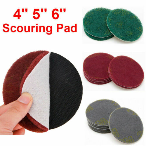 4/'/' 5/'/' 6/'/' Scouring Pad Hook and Loop Abrasive Cleaning Pad 5//10PCS