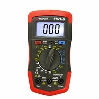 Triplett 1101-b Compact Digital Multimeter With Bright, White Backlit Display An