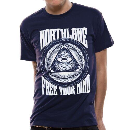 Free Your Petits Bleu Marine Adultes Northlane Libérez Votre Esprit T-shirt