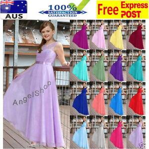 Lace-Full-Length-Flower-Girl-Dress-Jr-Bridesmaid-Wedding-Formal-Graduation-Dress