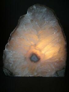 Natural-Agate-Table-Lamp-Quartz-Crystal-Geode-Display-Specimen-123682624158