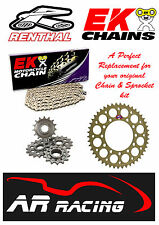 Renthal / EK Chain & Sprocket Kit to fit Suzuki GSXR 1000 K9-L1 2009-2011