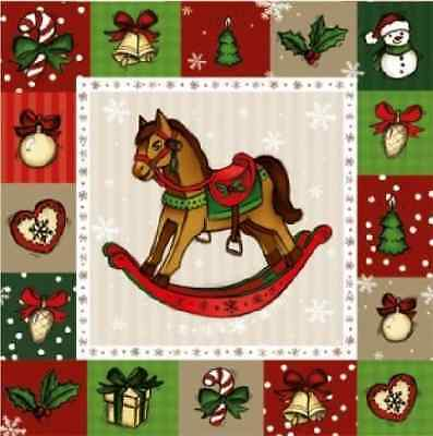 4 x Single Vintage Paper Lunch Napkins  for Party -  Sweet Horse DECOUPAGE G24