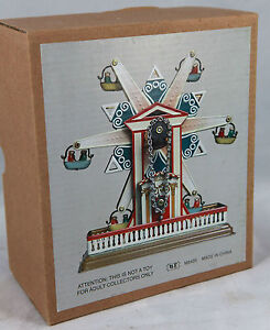 TIN-TOY-WIND-UP-CLOCKWORK-STAR-FERRIS-WHEEL-CHRISTMAS-GIFT-CLASSIC-COLLECTIBLE