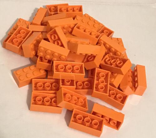 Lego Orange Brick 2X4 50 Pieces NEW