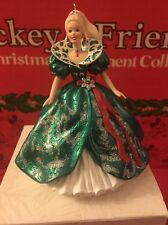 Christmas Hallmark Keepsake Continental  Holiday Barbie Number 3 Ornament In Box