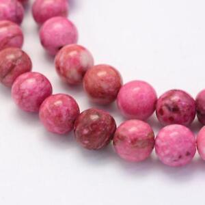 Achat-Perlen-Natur-Crazy-Achatstein-8mm-Pink-Edelstein-Schmucksteine-G418