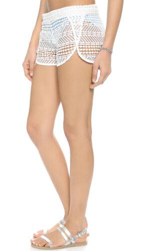 ZINKE Women/'s White Crochet Cover-up Paige Shorts $125 NEW