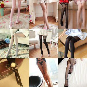 e655ae51a9155 Image is loading Ultra-thin-Trendy-Sexy-Pattern-Temptation-Sheer-Pantyhose-