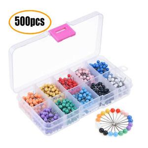 500-Pin-Wand-Nadeln-bunt-gemischt-fuer-Pinwand-Push-Pins-farbig