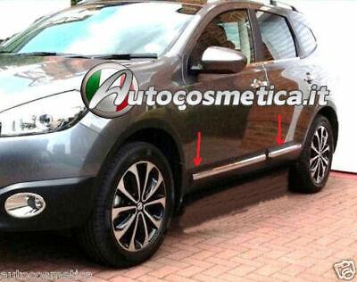 Nissan QASHQAI dal 2007-PROFILO PROTEZIONE LATERALE in ACCIAIO PROTEZIONE CROMO