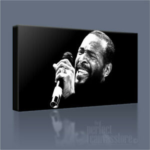 MARVIN GAYE THE SOUL FATHER GIANT ICONIC CANVAS ART PRINT by Art Williams #02