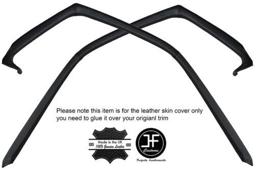 Black stitch 2X porte fenêtre bordure cuir couvre fits porsche 928 s S2 S4