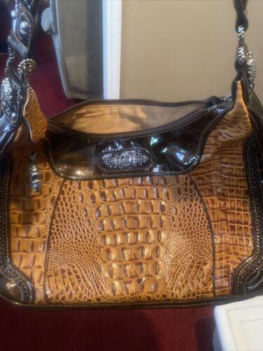 Madi Claire Croc Embossed Handbag
