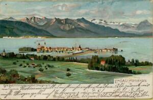 2290: Ansichtskarte Postkarte Lindau im Bodensee 1909