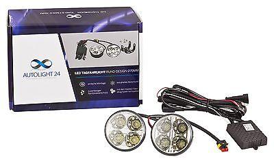 Smart LED Tagfahrlicht 8 SMD rund Ø70mm E-Prüfzeichen R87 DRL 6000K E4
