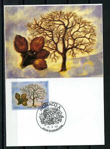 MONACO-1993-CM-1-jour-fleurs-amandier-timbre-1867