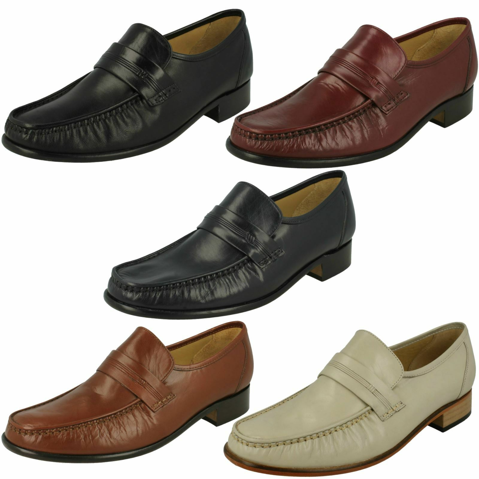 Mens Thomas Blunt Moccasin Formal Shoes 'Clapham' 2