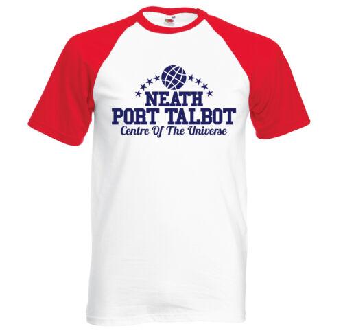 retro short sleeve baseball t shirt Centre Of The Universe Neath-Port-Talbot