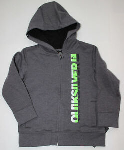 24 Fleece Jacket Zip Hoodie Boy's Quiksilver Gray Sweatshirt Nwt M CwRYHxnq