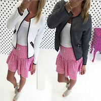 Fashion Women Long Sleeve Basic Jacket Outerwear Casual Suit Coat Slim Blazer