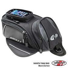 JOE ROCKET MANTA MAGNETIC MOTORCYCLE TANK BAG BLACK Carbon Look