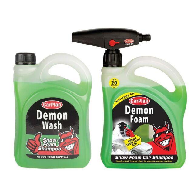 CarPlan Demon Snow Foam 2 Litre with Gun Plus 2 Litre Demon Foam Refill Pack