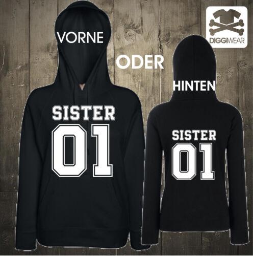 Sister 01Best Friends amie chilliger un Hoodie Capuche S-XXL