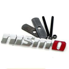 Metal Nismo Badge Front Grill Hood Sports Racing NISSAN GTR 350Z 370Z 240SX ECT