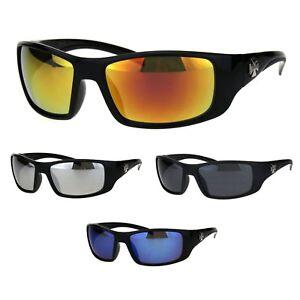 Choppers Mens Classic Biker Gangster Motorcycle Warp Sports Plastic Sunglasses
