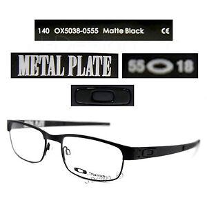 1a6513f839ce8 Oakley METAL PLATE OX5038-0555 Matte Black Titanium Eyeglasses 55 18 ...