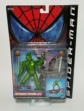 2002 Toy Biz Spider-Man Movie Green Goblin Figure & Pumpkin Glider Series 2