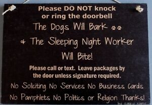 Dogs-Bark-Night-Shift-Worker-Bites-Warning-Beware-No-Soliciting-Sign-Signs