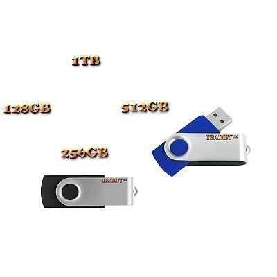 1TB/512GB/256GB/128GB USB 2.0 Swivel Storage Flash Drive Disk Memory Stick Thumb